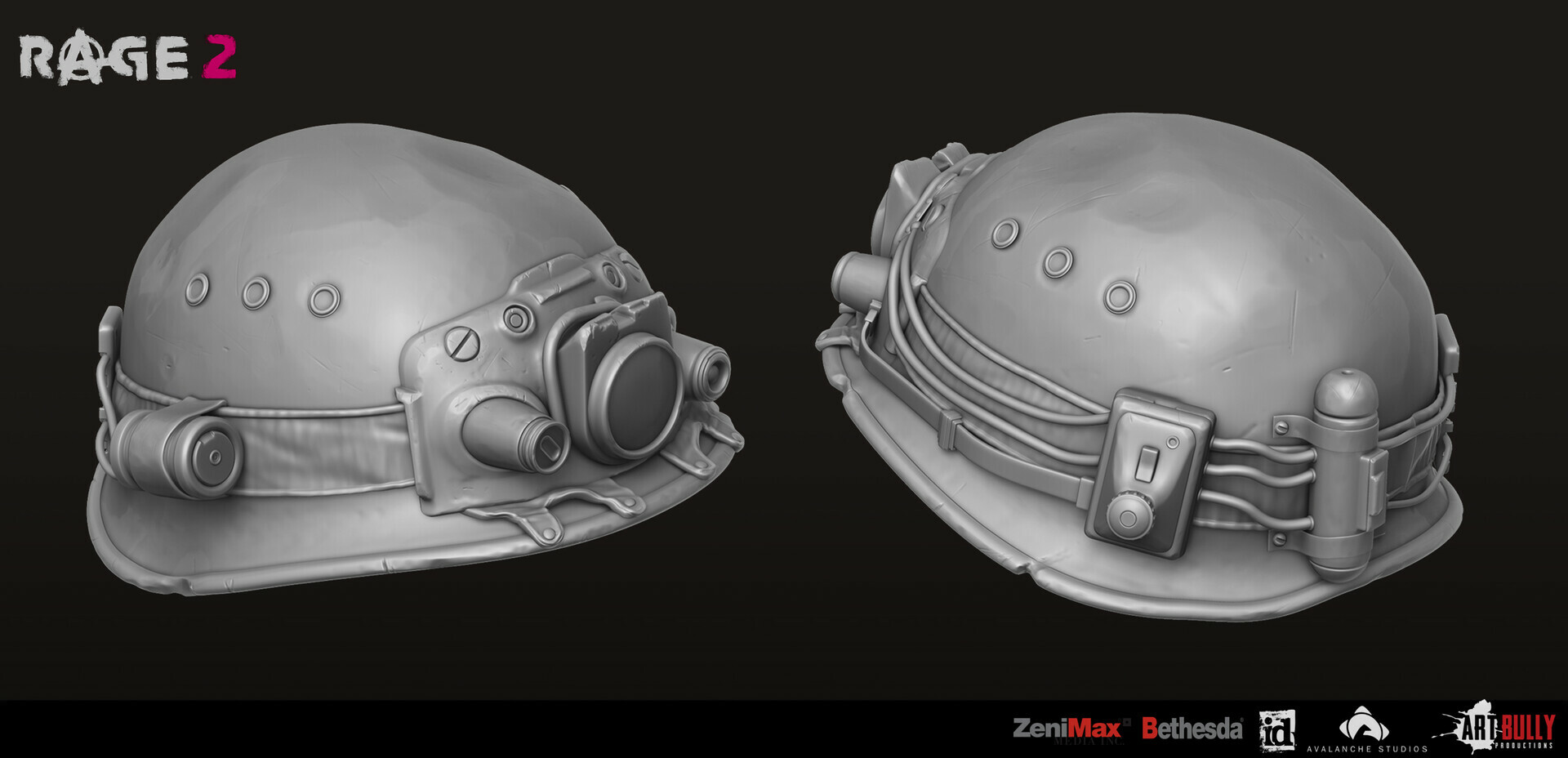 Patrick nuckels art bully productions civilian gear set 03 hex 03 miner helmet render