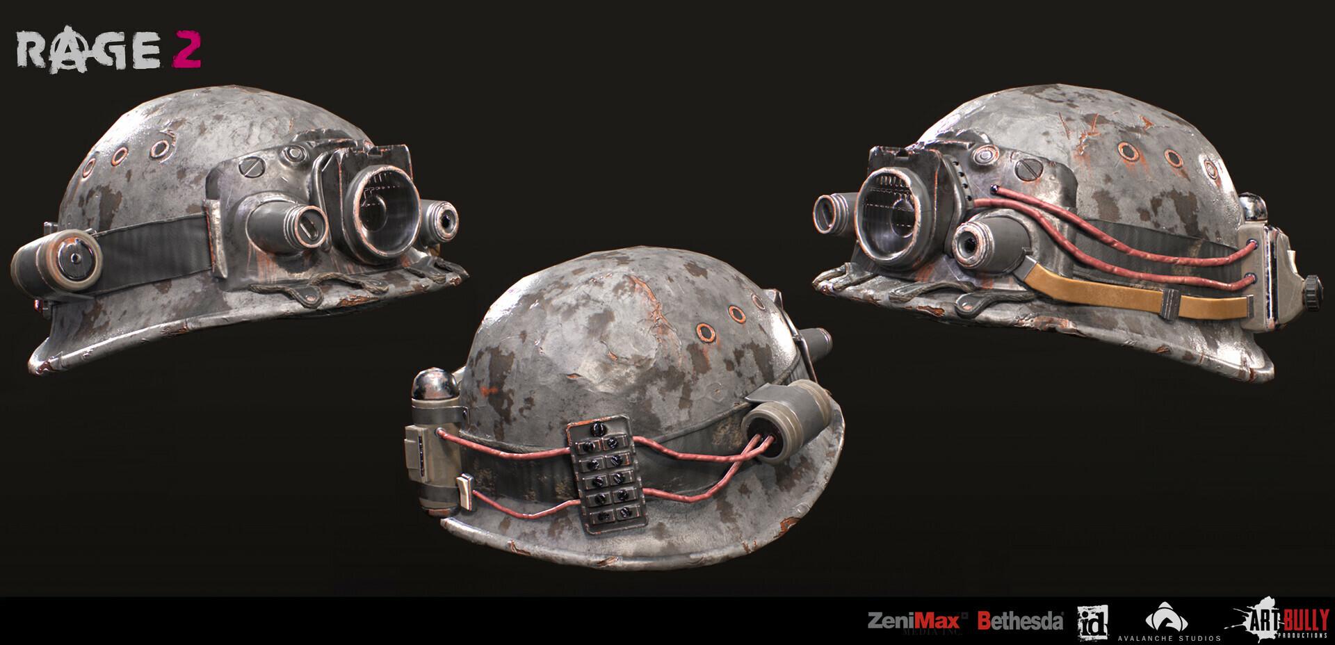 Patrick nuckels art bully productions miner helmet