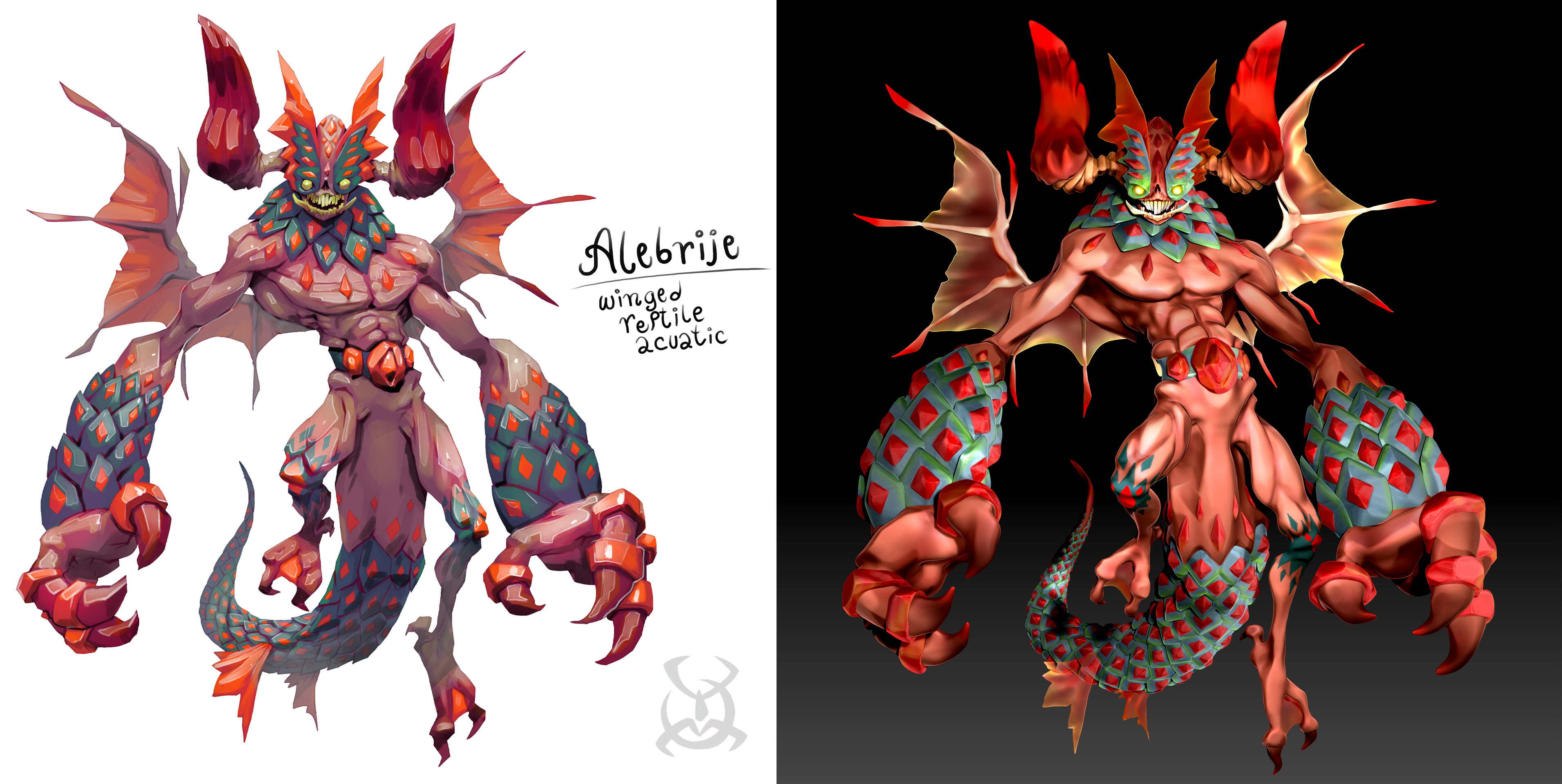 Side-by-side: Ivan Nikulin's original illustration & my sculpt