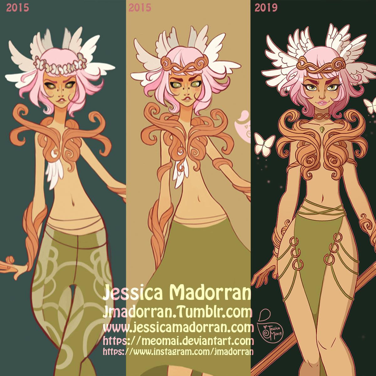Jessica madorran character design redesign wood queen 2019 square comaparison version artstation
