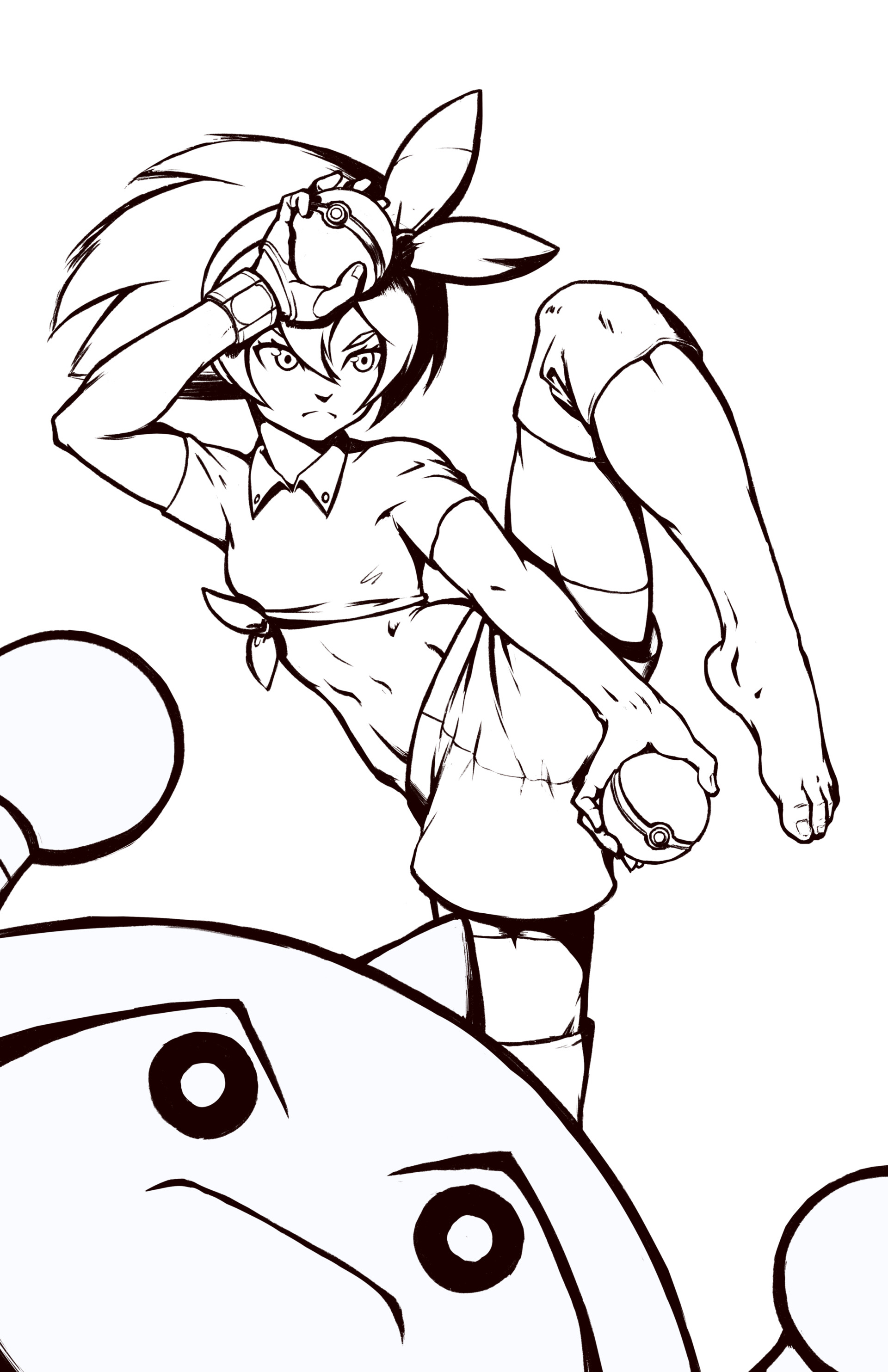 Line-art before coloring