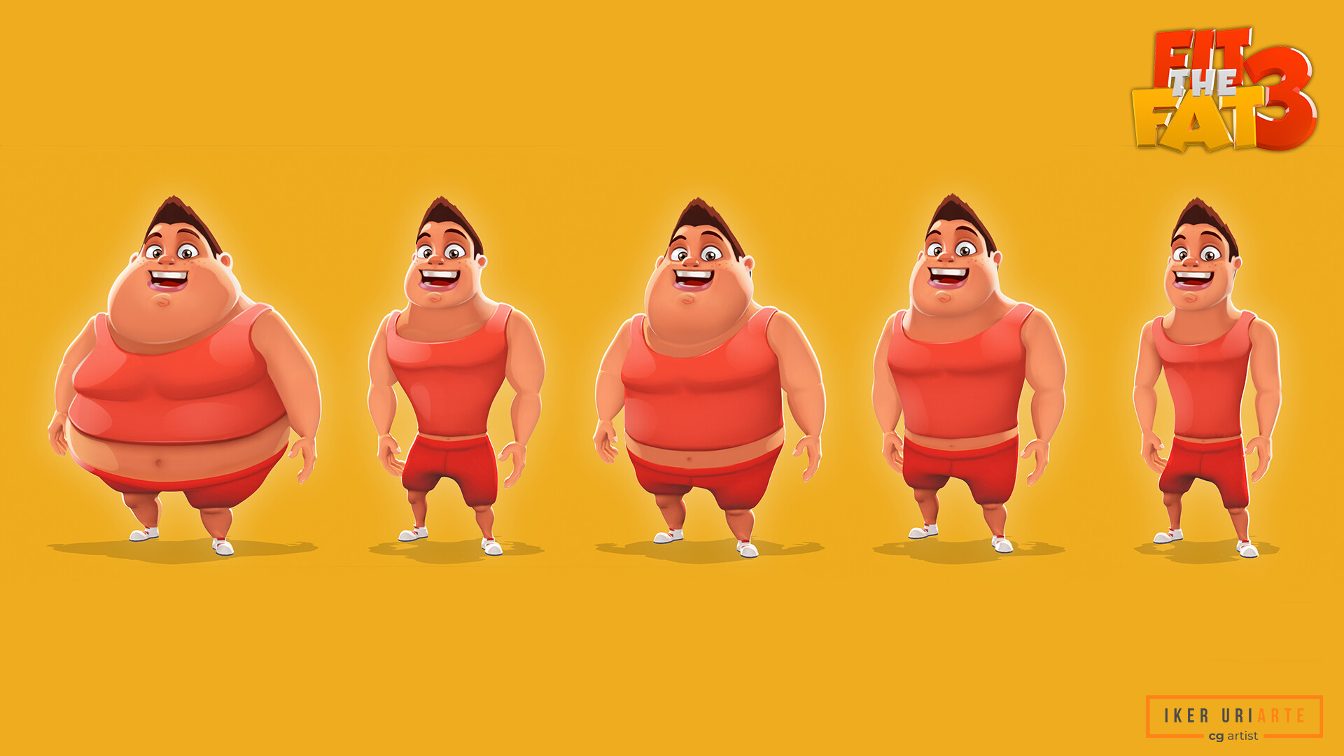 ArtStation - Fit The Fat 3 - Red Character, Iker Uriarte