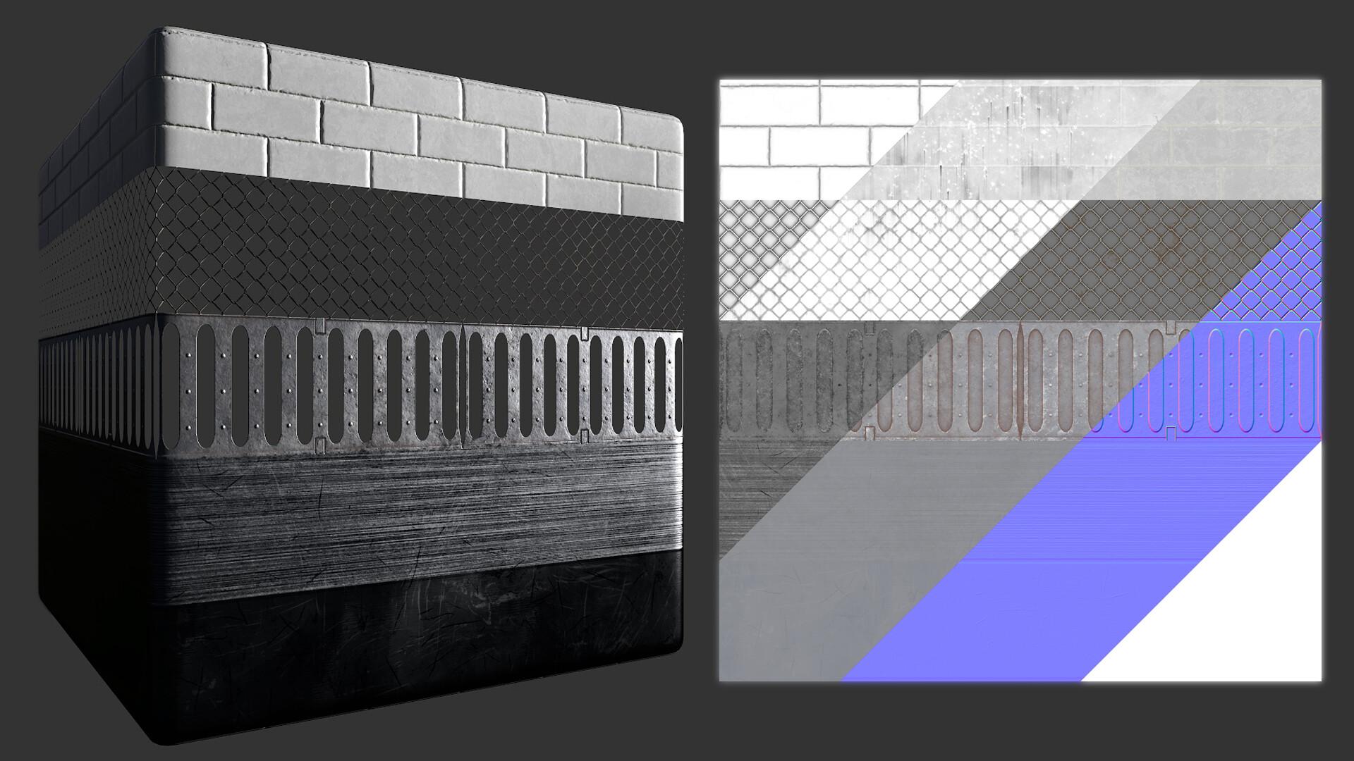 Material Tiling Trim Sheet
