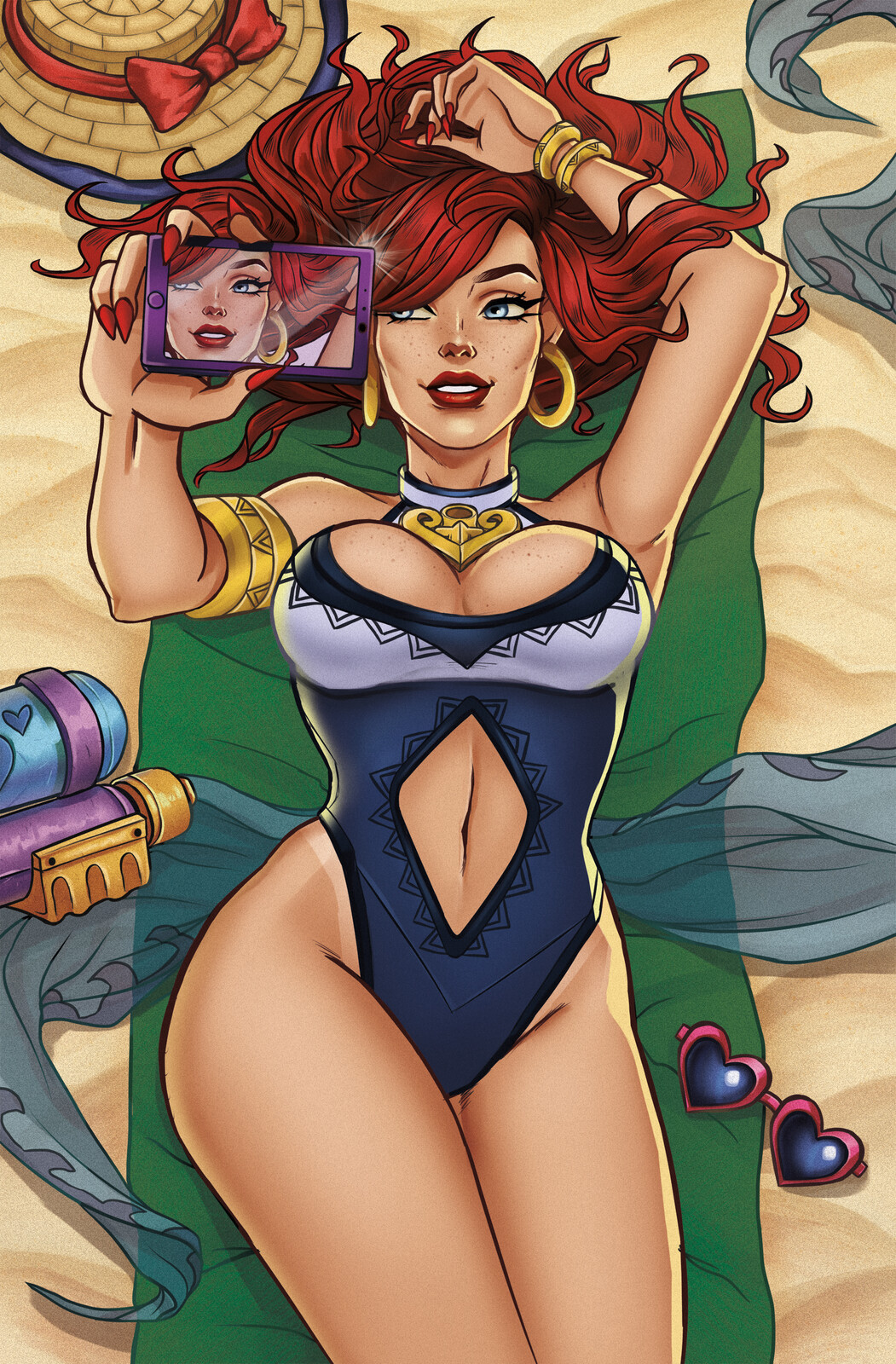 Pool Party Miss Fortune Illustration