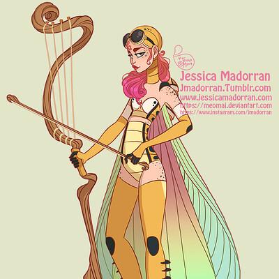 Jessica madorran character design redesign grasshopper warrior 2019 artstation01