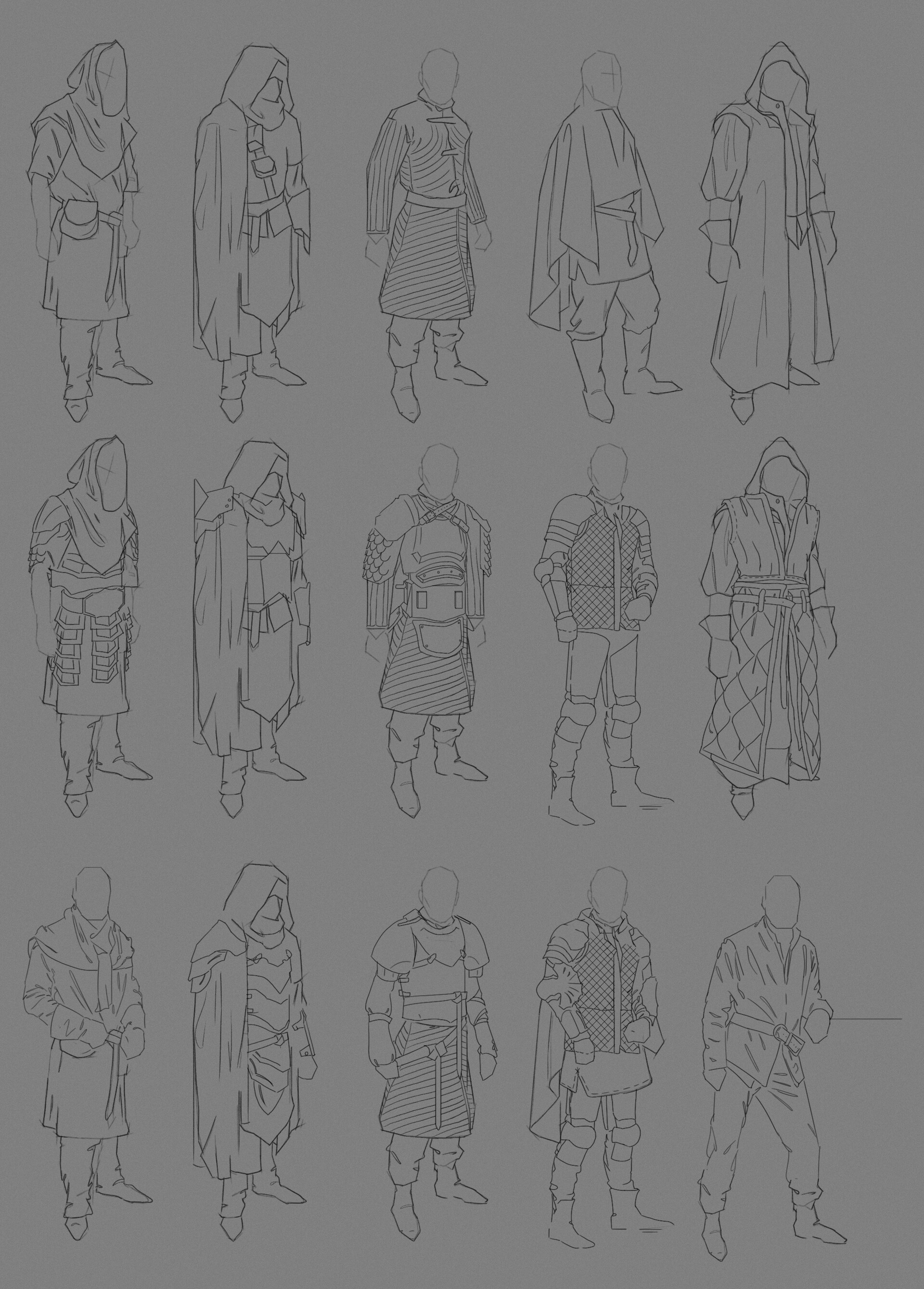 James starr king starr king fantasy armor sketches