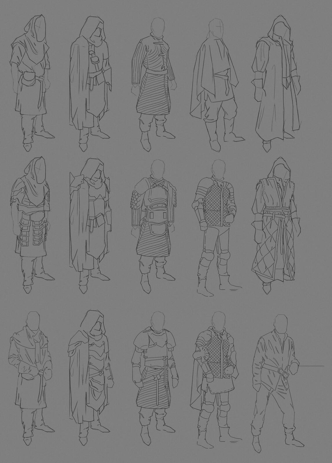 Male Fantasy armor Concept