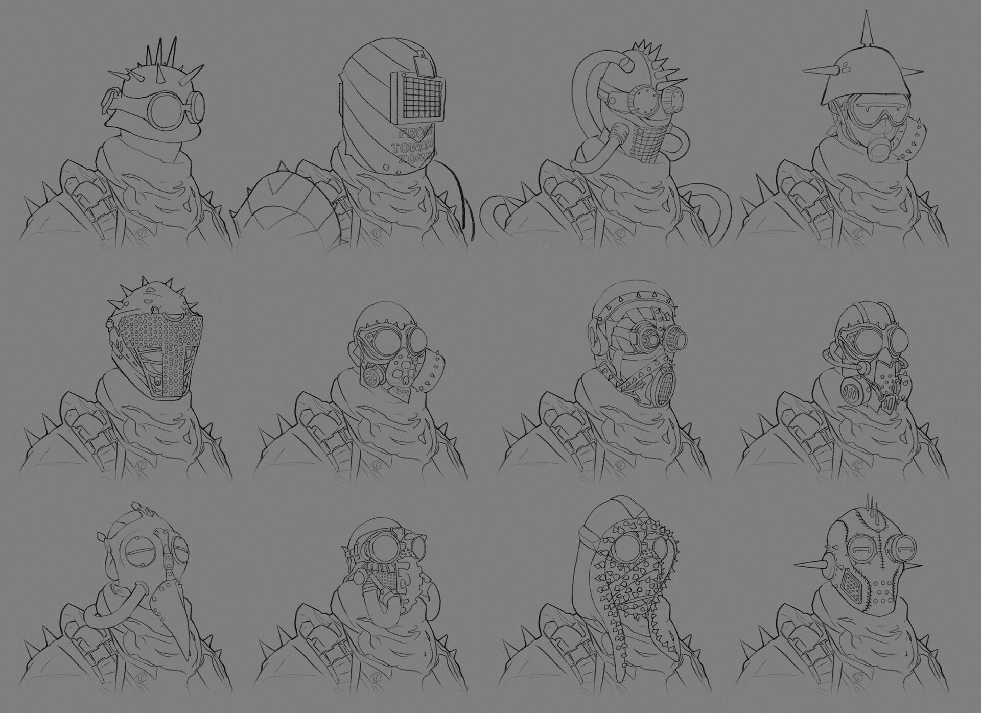 James starr king starr king fantasy helm sketches