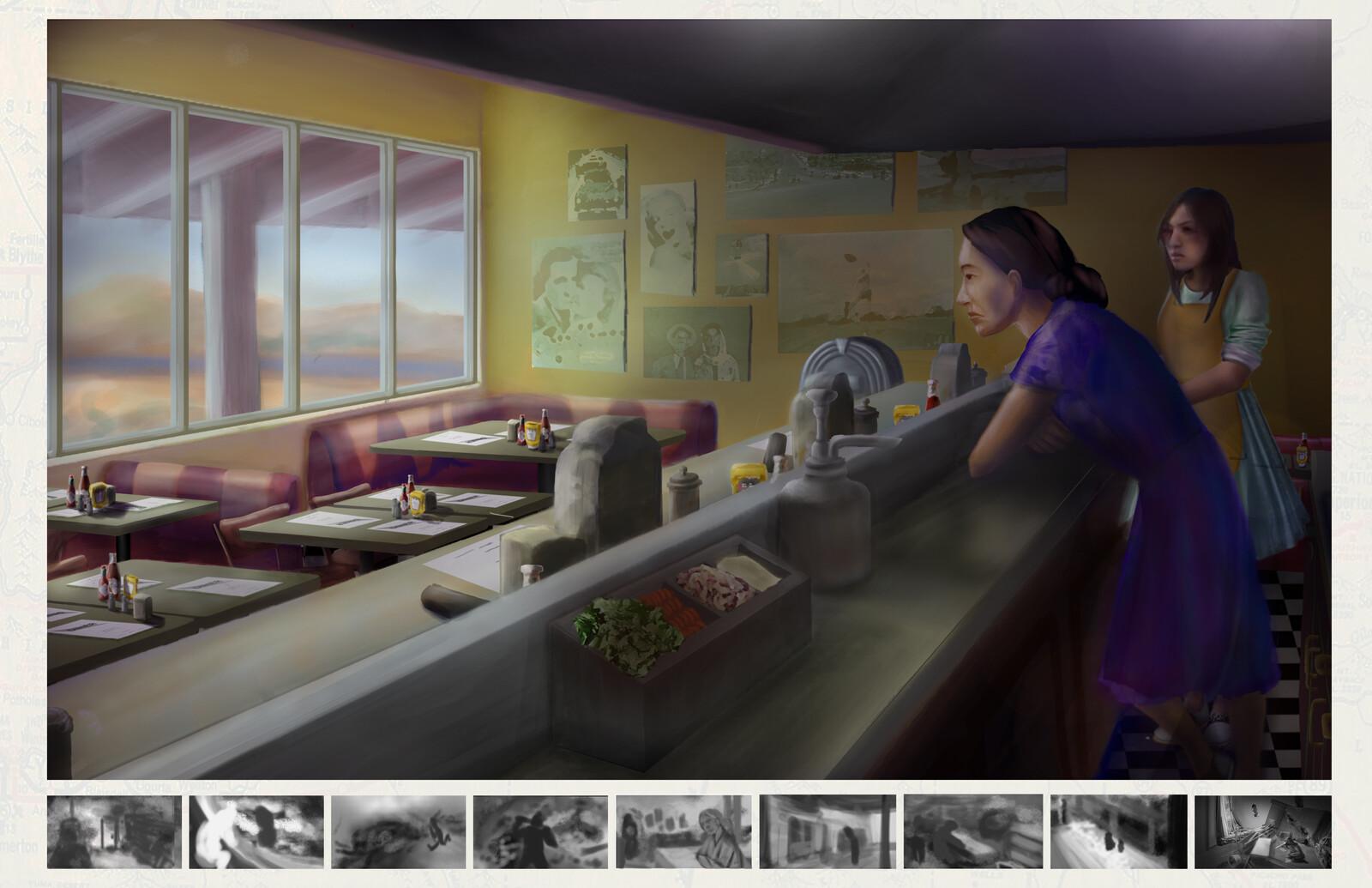 1940s Motel Diner Concept