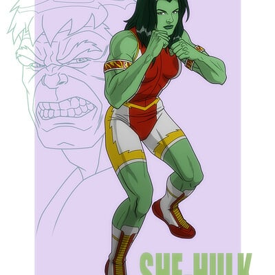 Jerome moore has210 she hulk wrestling poster copy