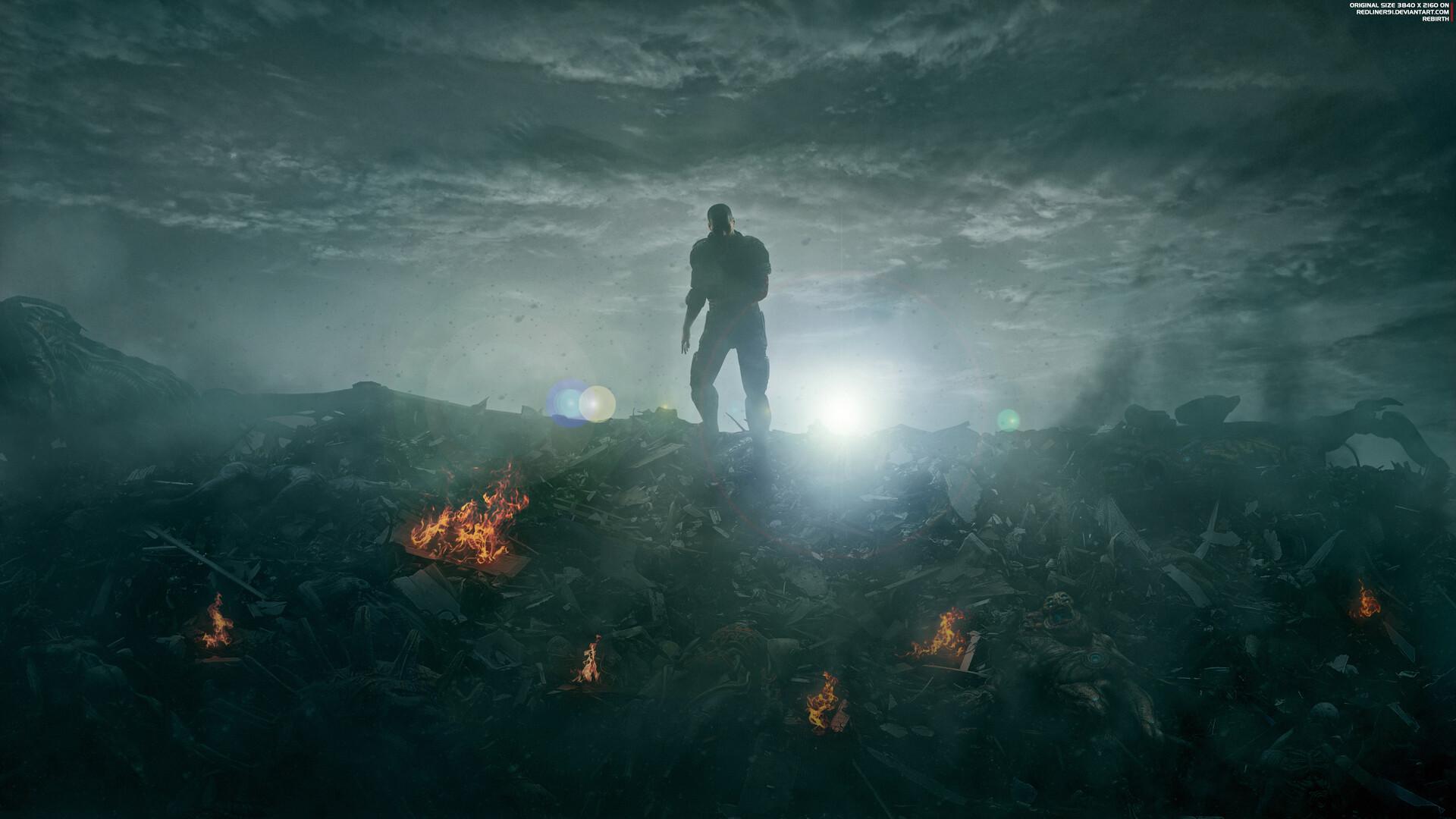 Artstation Rebirth Mass Effect Trilogy Shepard Wallpaper