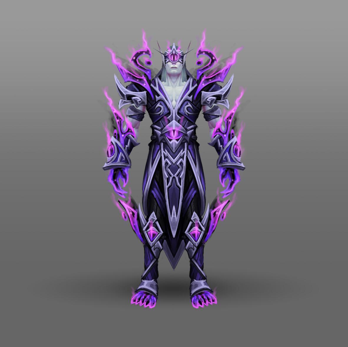 Artstation Fan Art World Of Warcraft Racial Class Armor Design Voidelf Arthur Lorenz Heritage of the void achievement + void elf heritage armor. of warcraft racial class armor design