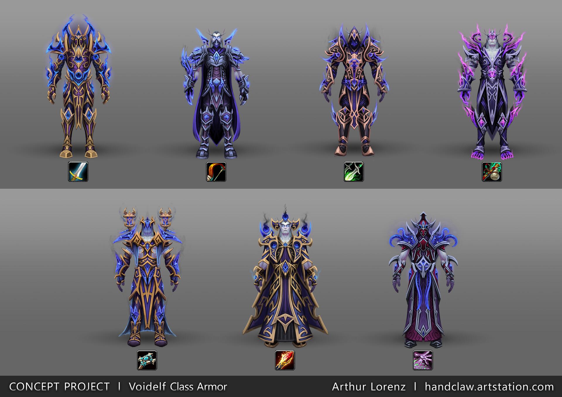 Artstation Fan Art World Of Warcraft Racial Class Armor Design Voidelf Arthur Lorenz And since i'm on the subject of transmog, i feel bad for the nightborne, highmountain tauren, void elf, and lightforged draenei. of warcraft racial class armor design