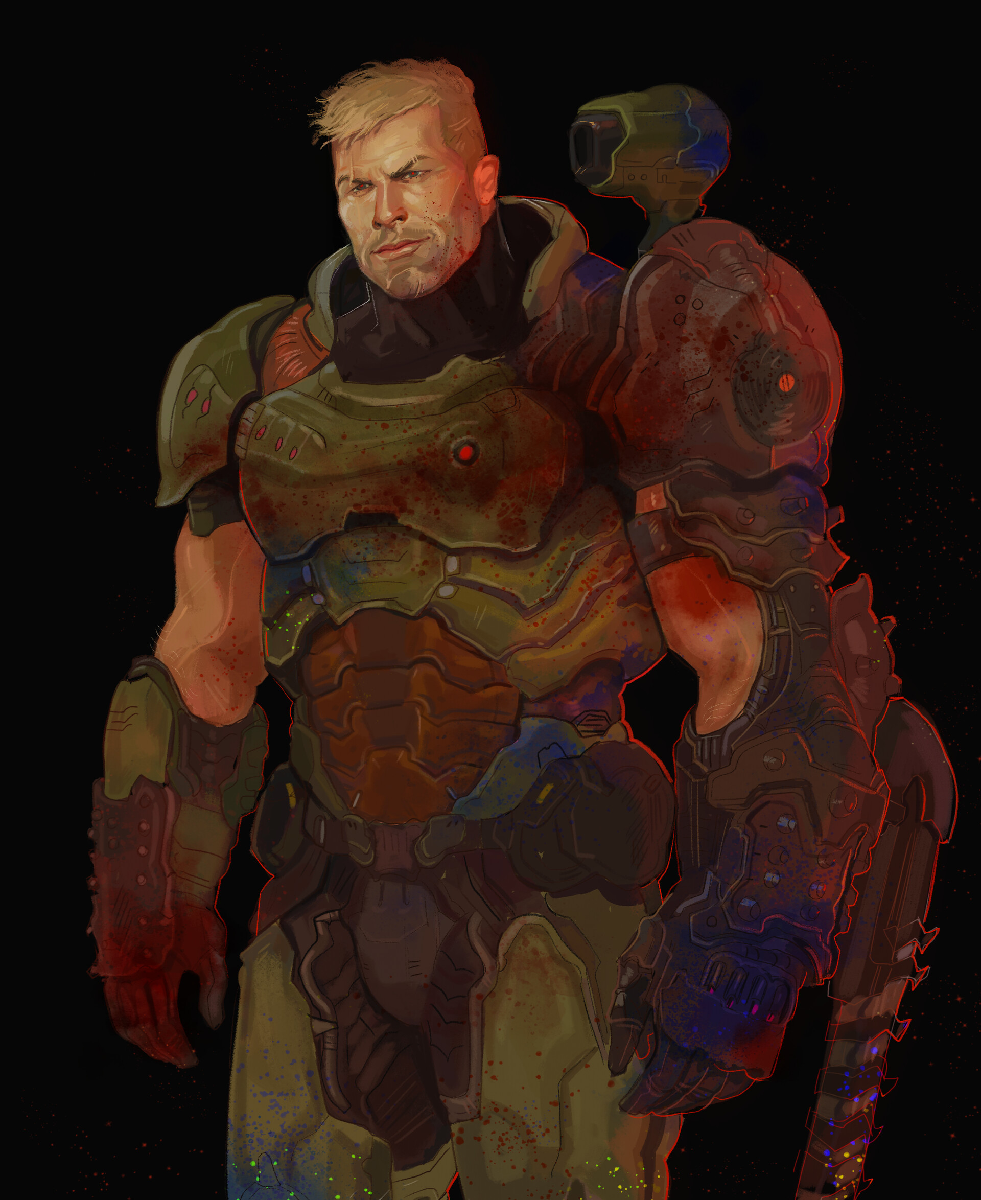 doom guy no armor