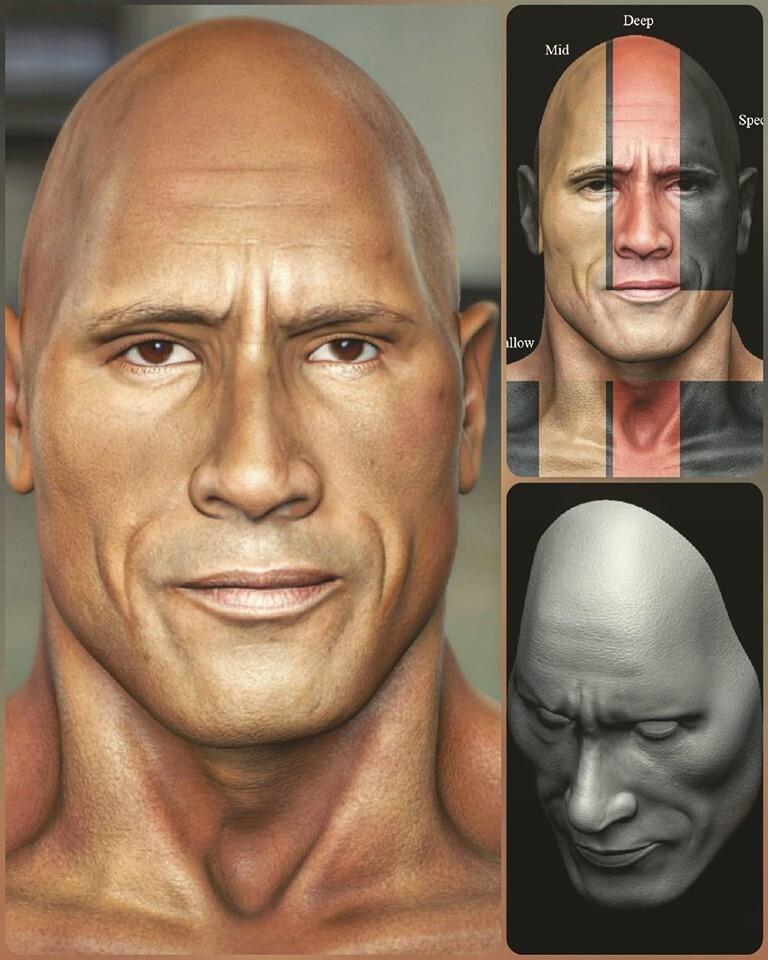 Updated version ...one of my Likeness CG character... Dwayne Johnson.