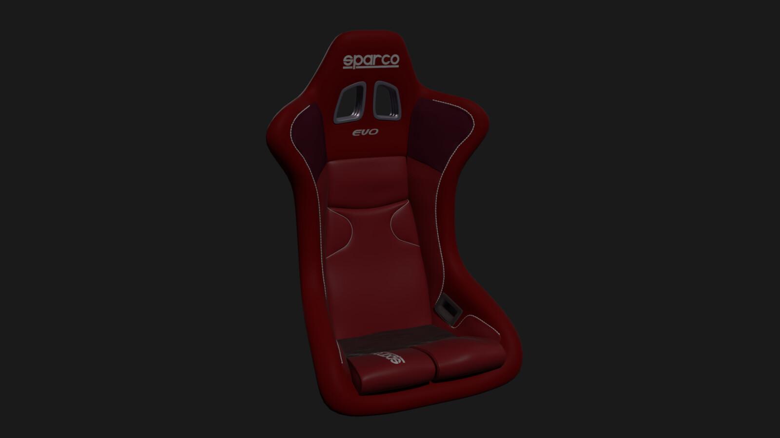 Sensational Artstation Sparco Racing Seat Dimas Bhakti Machost Co Dining Chair Design Ideas Machostcouk