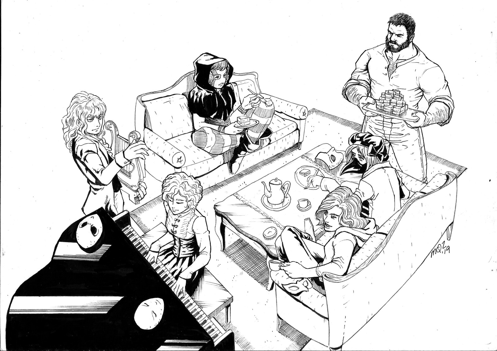 "Artwork of a party from the campaign ""Shards"""