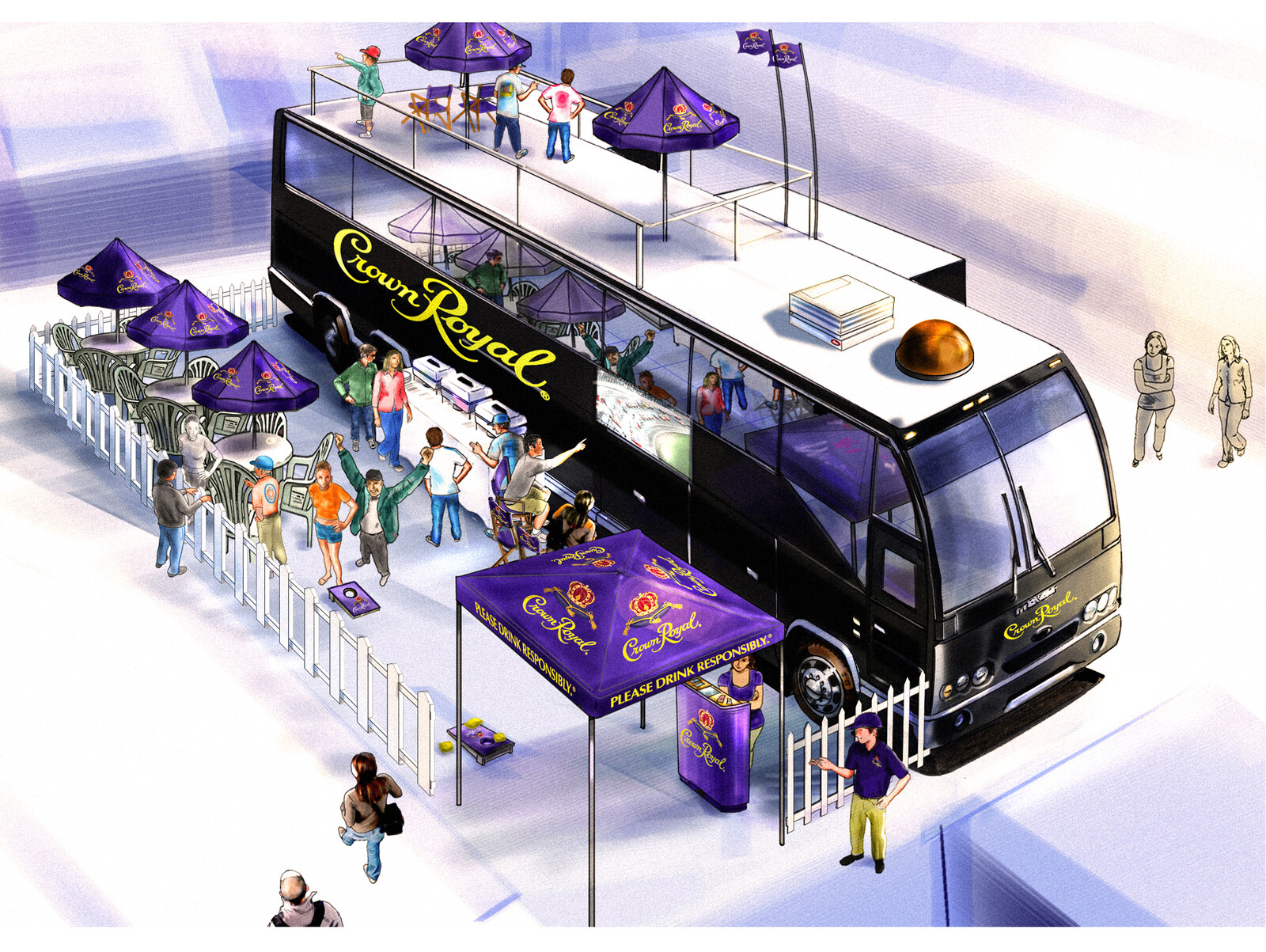 Crown Royal Event renderings