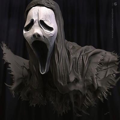 Surajit sen killer mask digital sculpture surajitsen jul2019