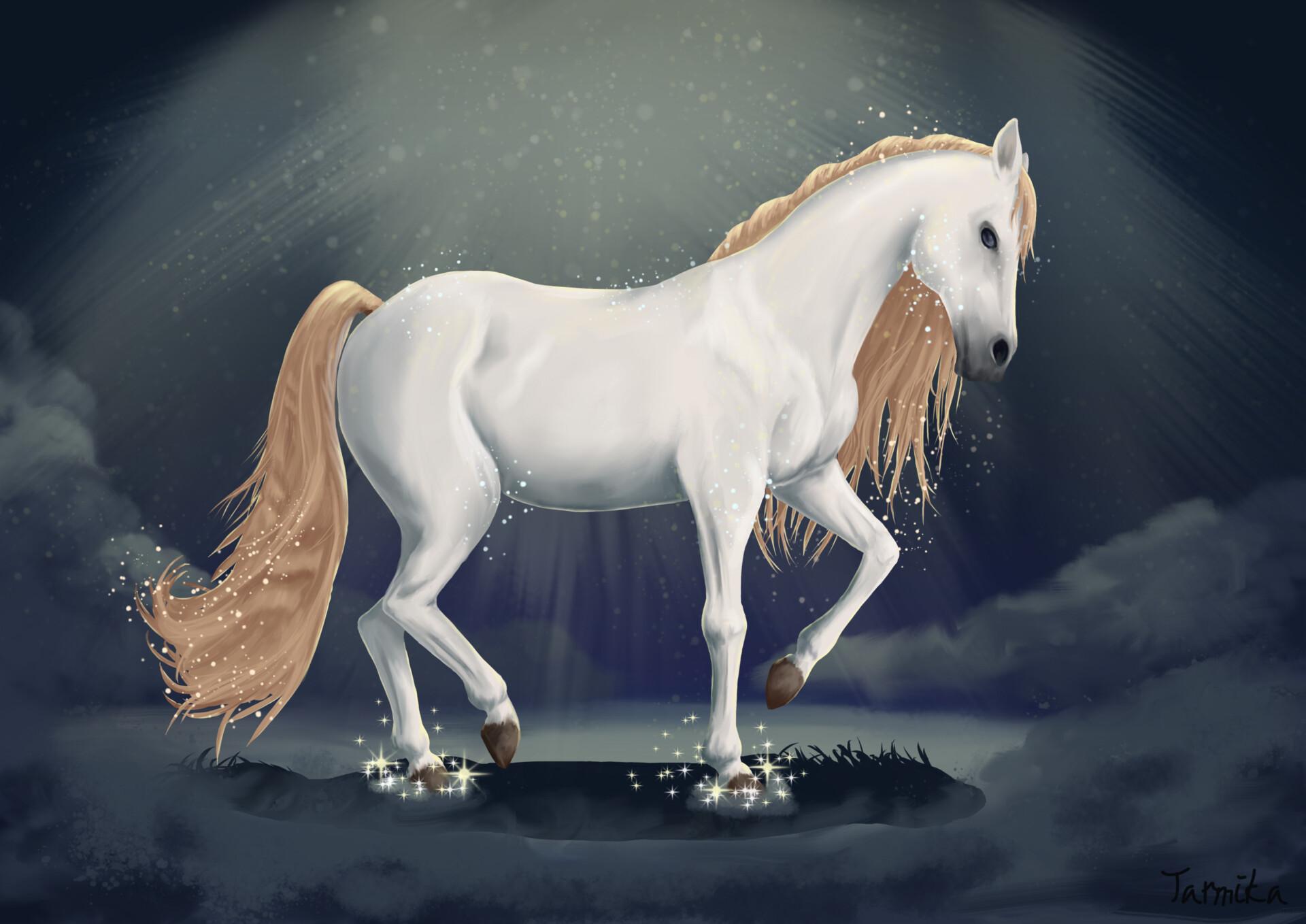 Artstation Magic White Horse Olga Anisimova