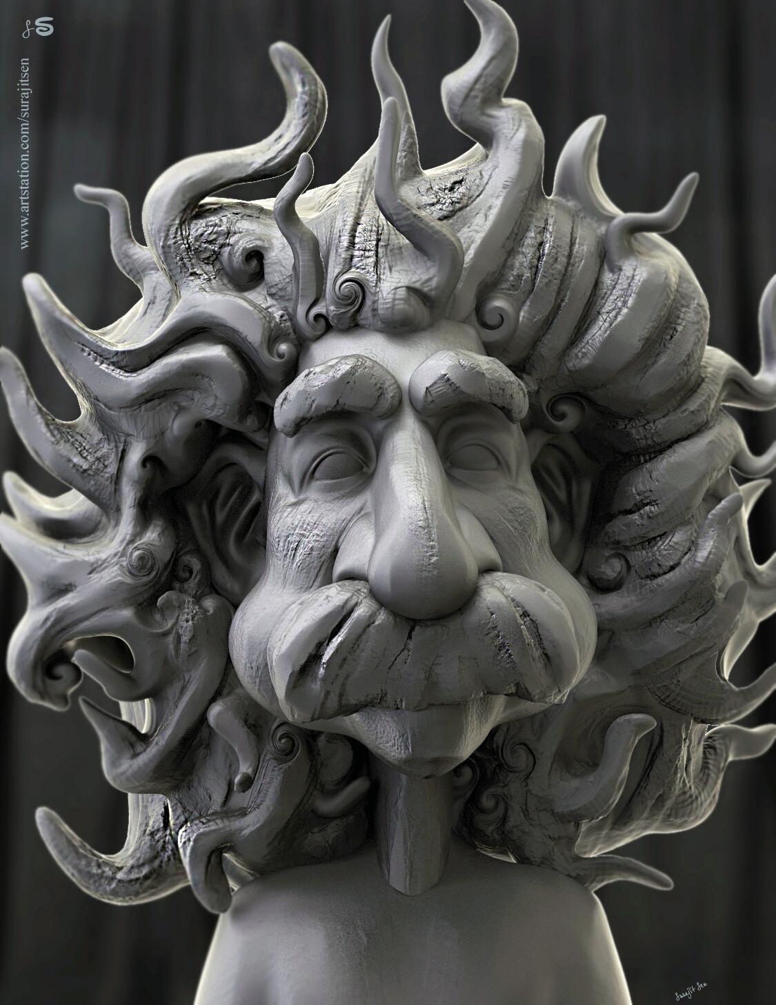 "Wish to share one of my free time quick Digital Sculpture... ""Einstein"""
