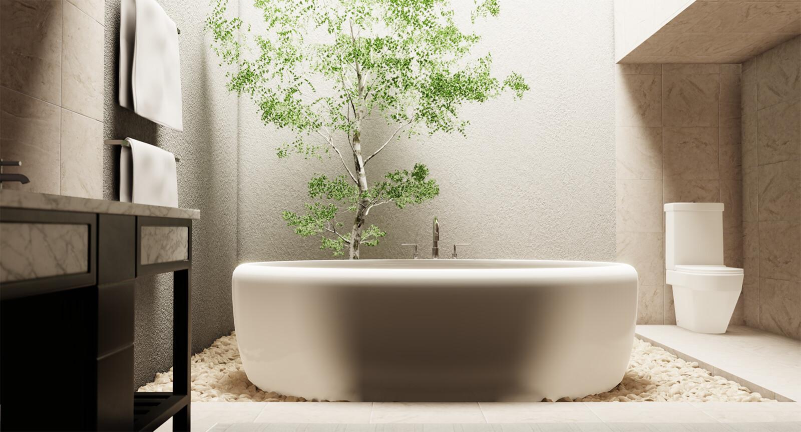 Eevee Realtime Bathroom