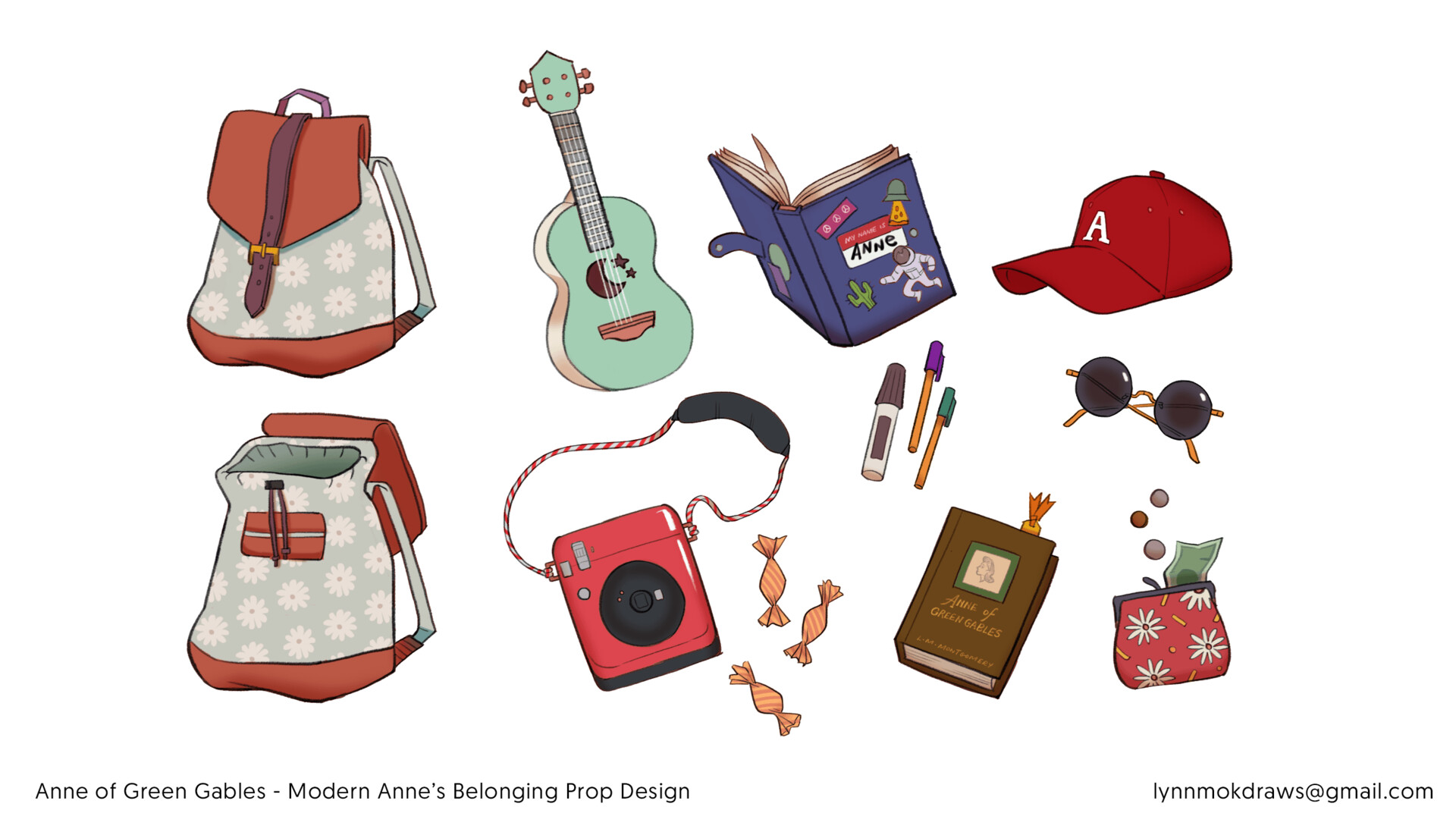 Modern Anne's belonging - prop design