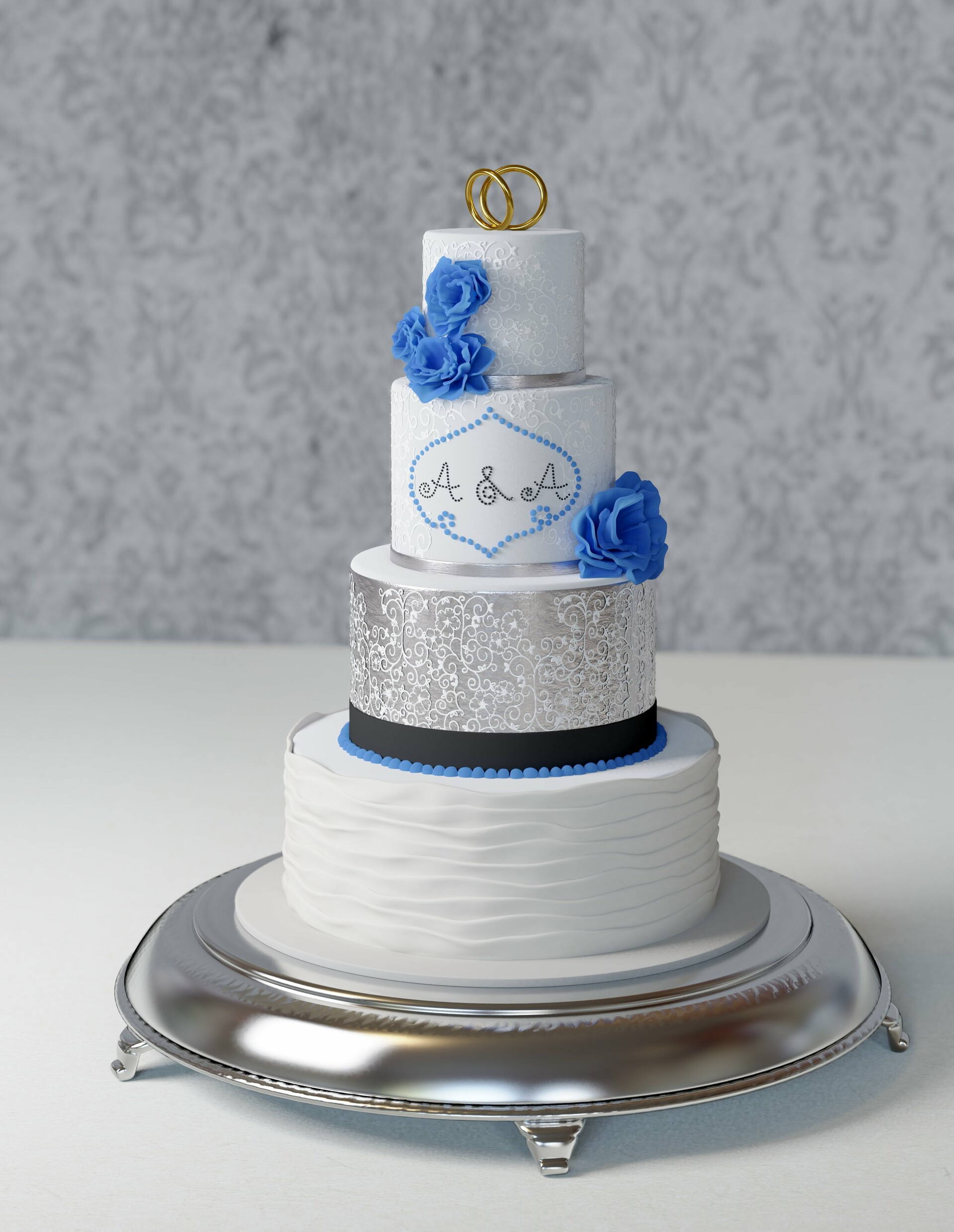 High-poly model and beauty render.