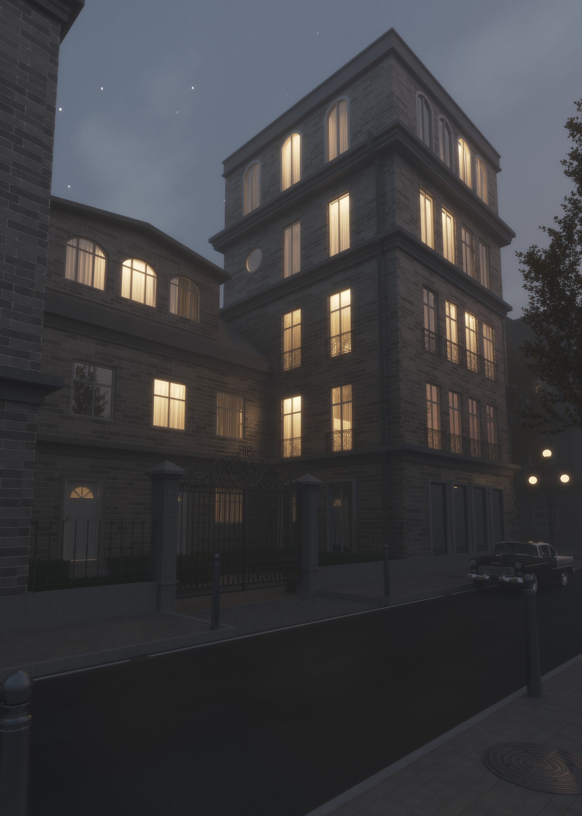 ArtStation - Night Views - Exterior renders, Valmik Shah