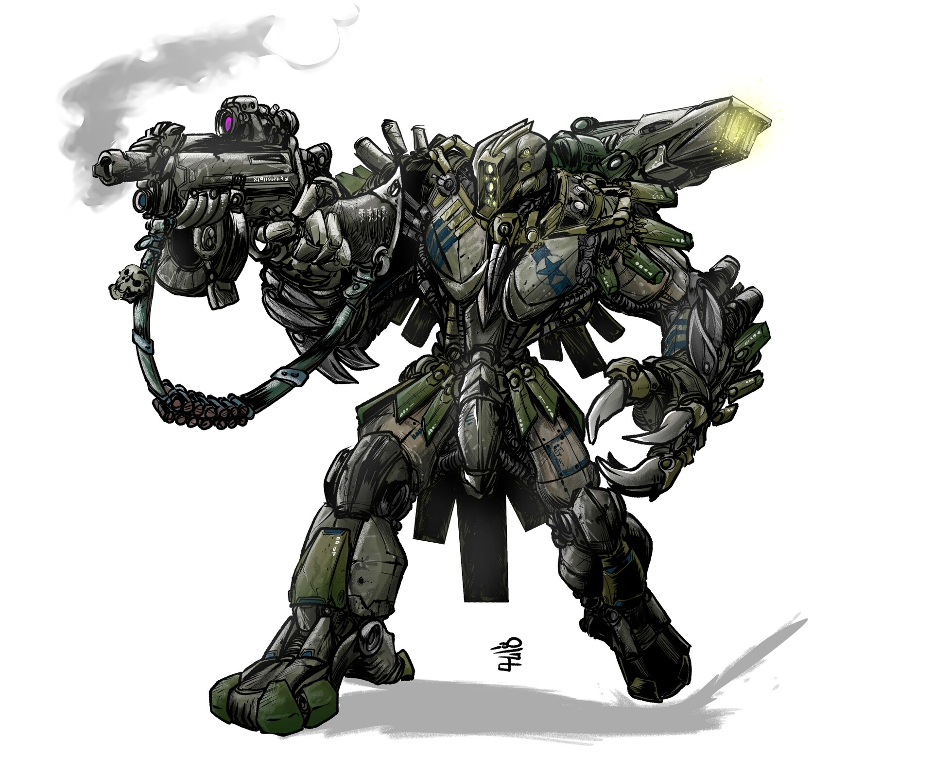 paul way cgunning mecha cqc 400dpi - Creating Veil Themed Bosses because I have nothing else better to do.