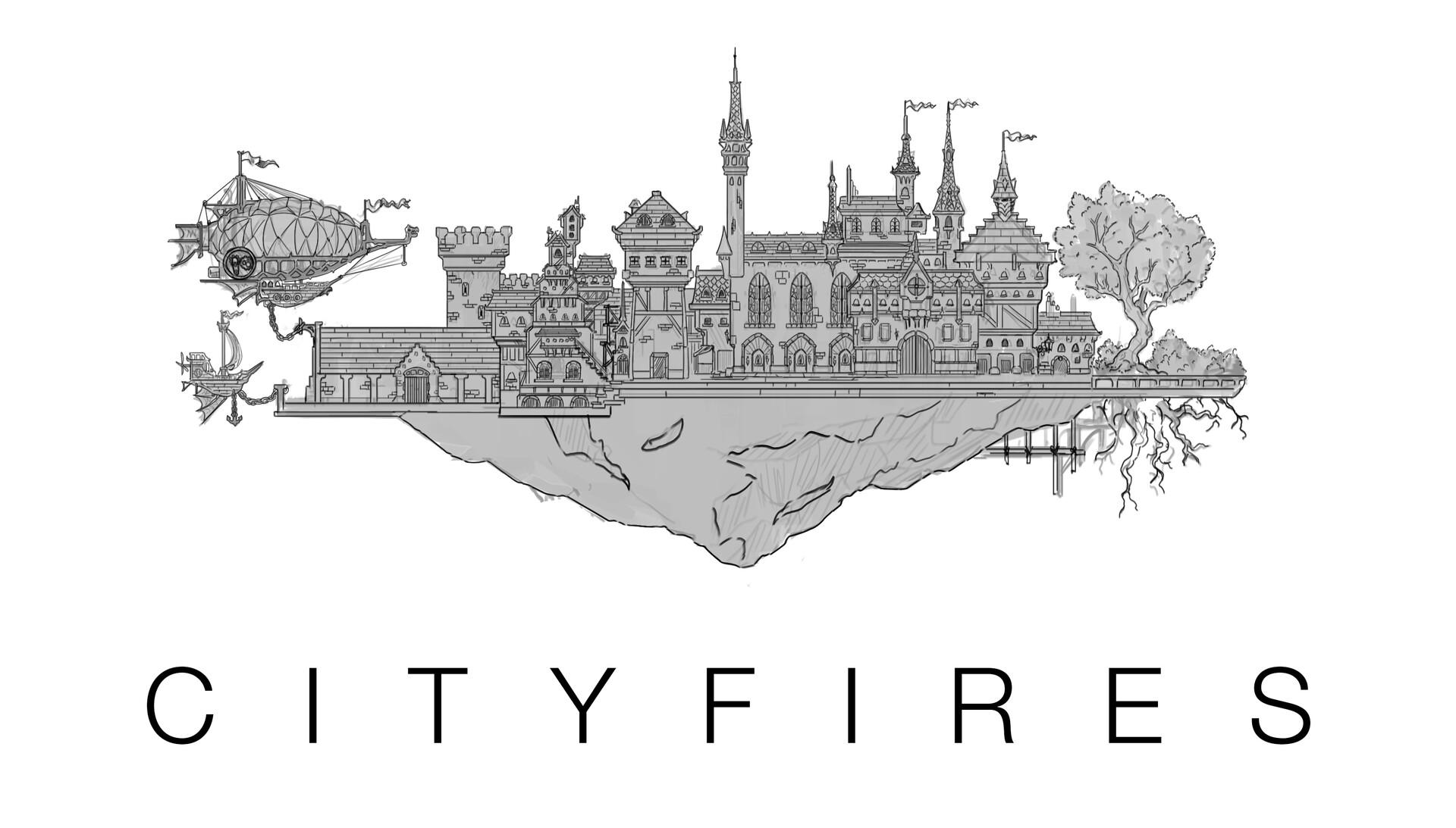 Arnesson art thomas hugo cityfires lineart 2linery art