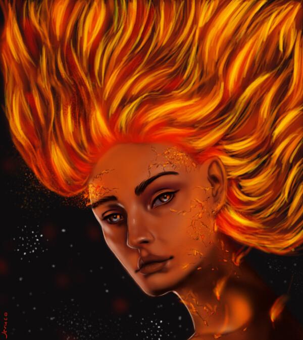 ArtStation , Fanart X,men Dark Phoenix, Jesus david Ruiz correa