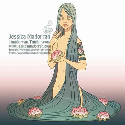 Jessica madorran character design redesign lotus pond 2019 artstation