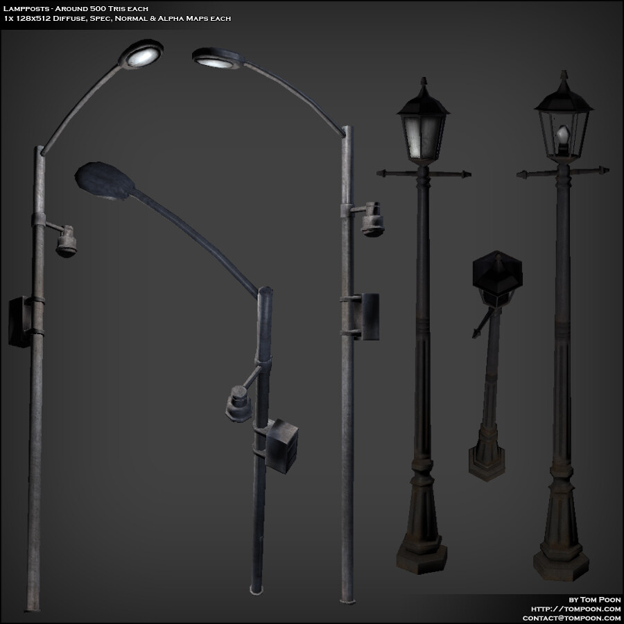 Tom poon lampposts