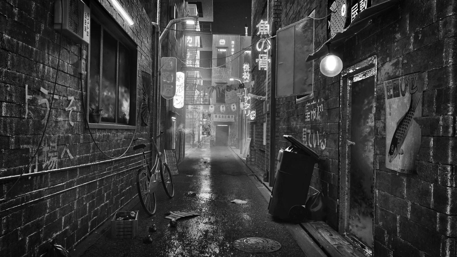 Black & White render