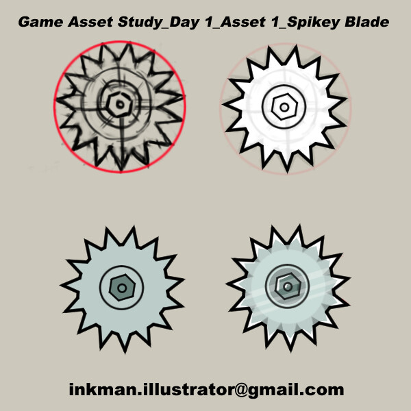 Game art study-Day 1 : Spikes
