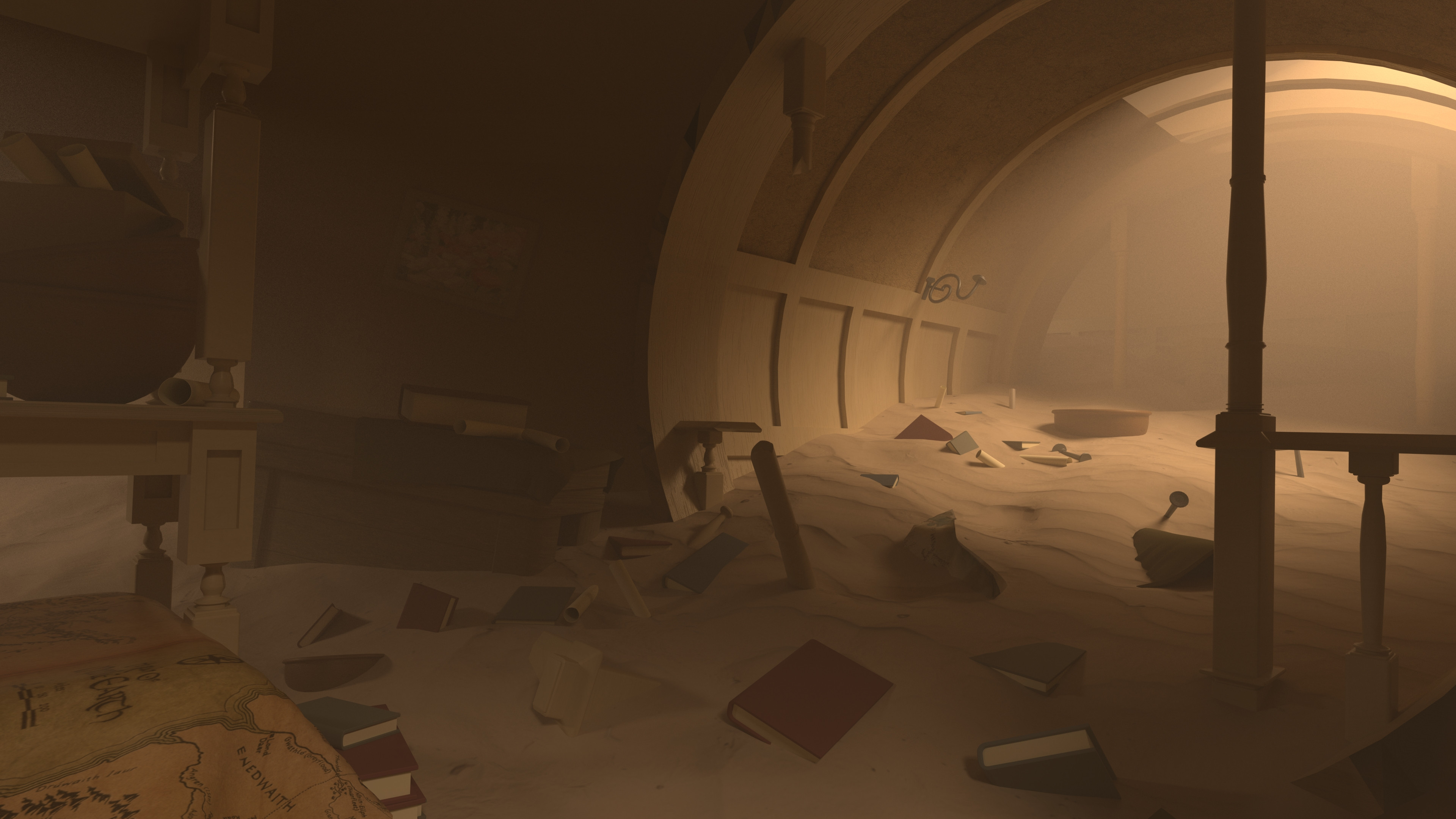 Here is an alternate lighting setup for the sandstorm version of bag end