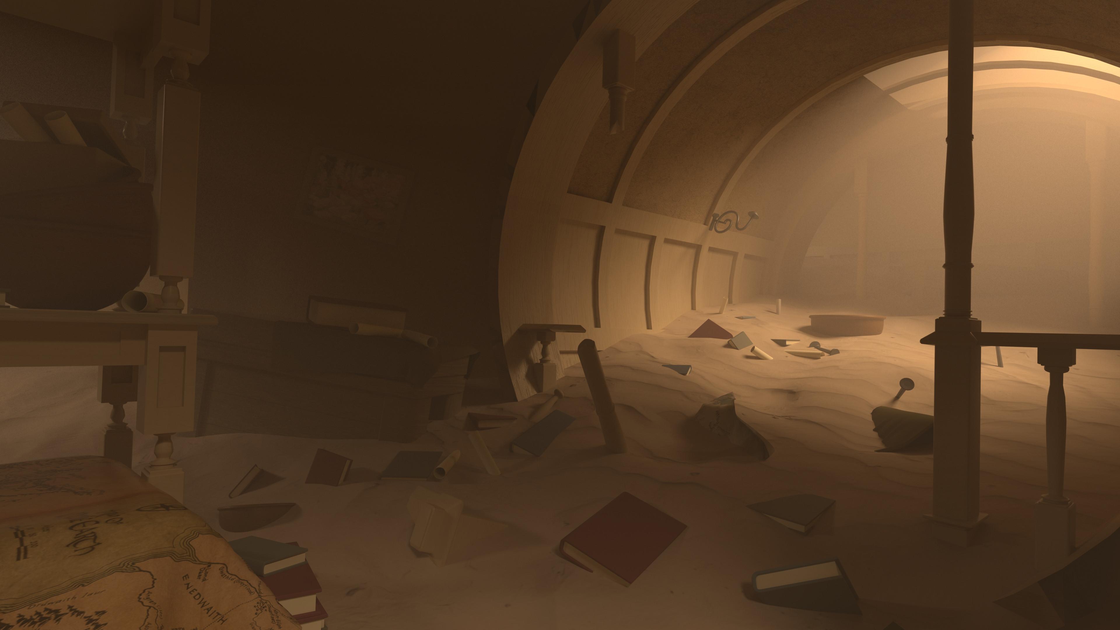 Here is an alternate lighting setup for the sandstorm version of bag end