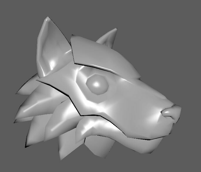 Wolf Armor Helm mesh