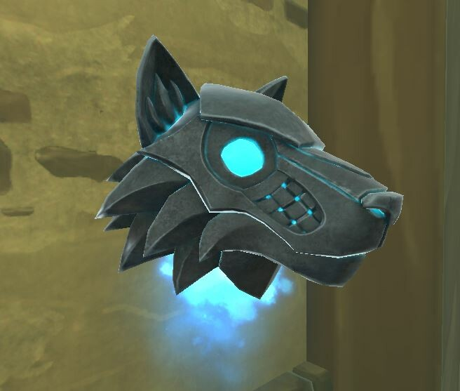 Wolf Armor Helm in game