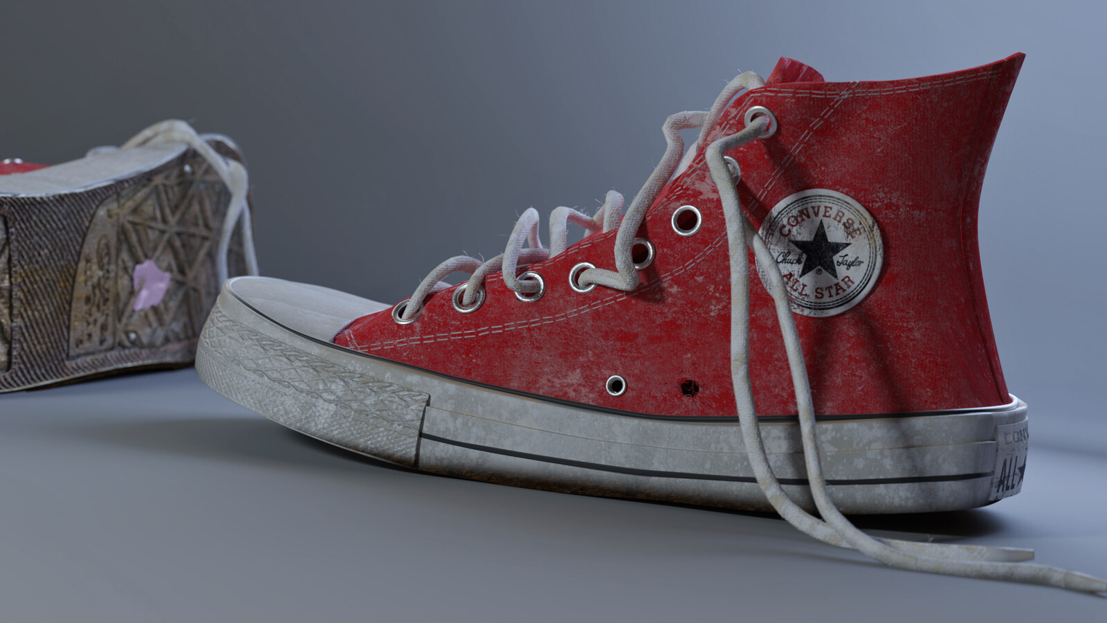 Final Render of the aging Converse