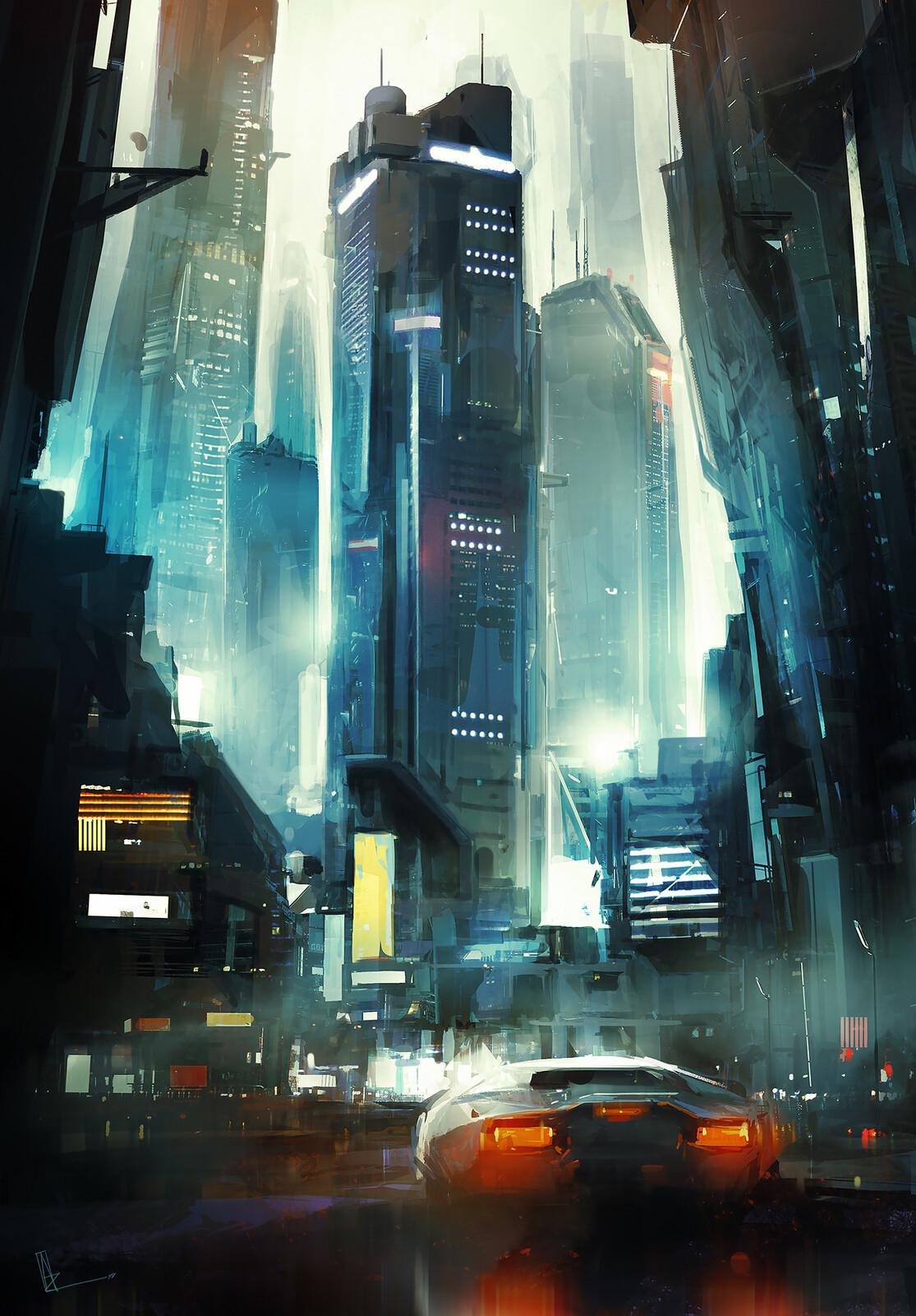 NEON DRIVE / Book Cover