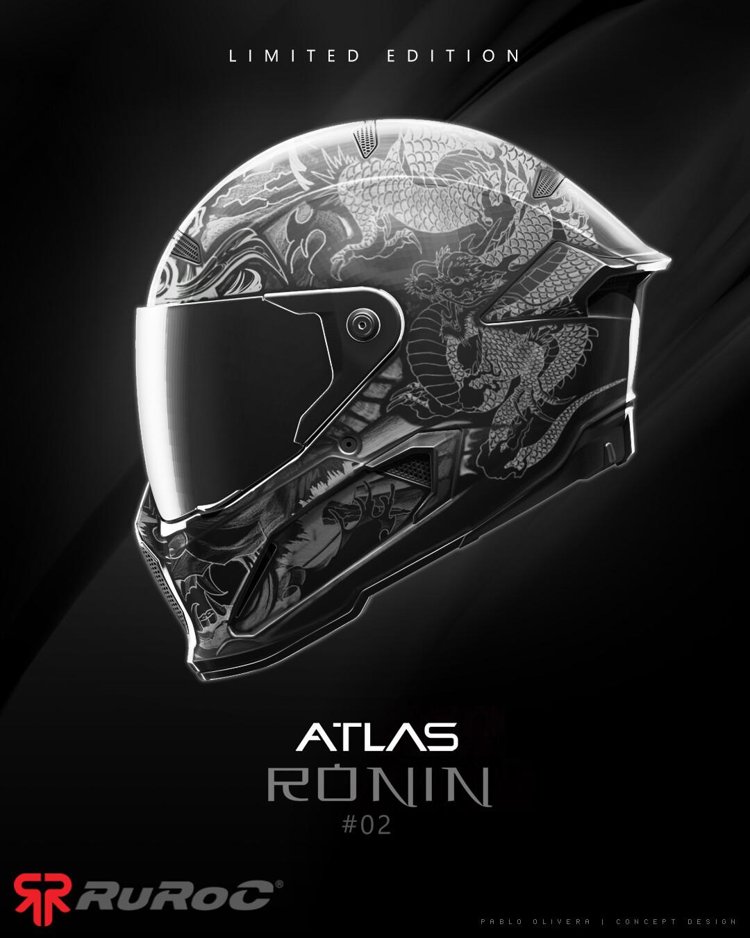 Pablo olivera helmet ruroc limited edition atlas ronin v02