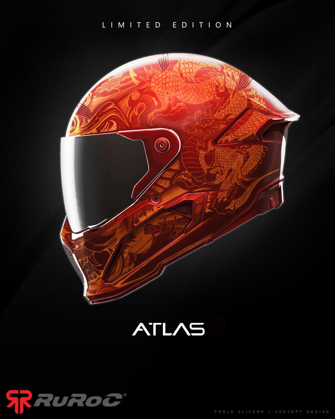 Pablo olivera helmet ruroc limited edition atlas ronin v03