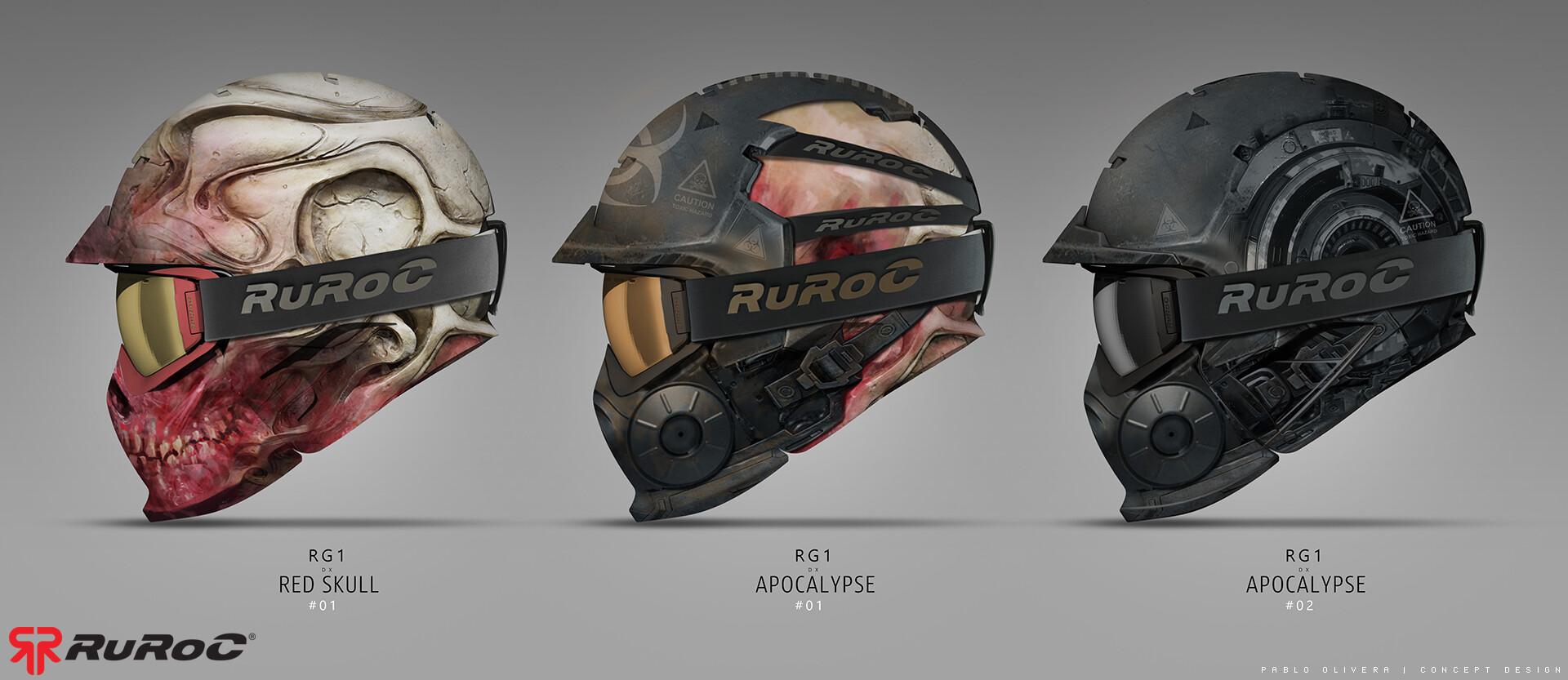 Pablo olivera ruroc sketch helmet a