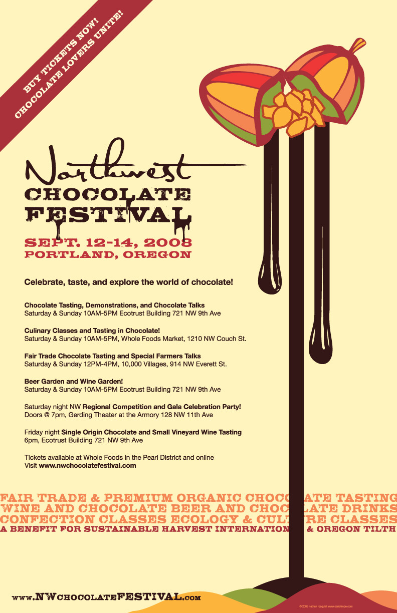 Northwest Chocolate Festival (Identity & Materials)