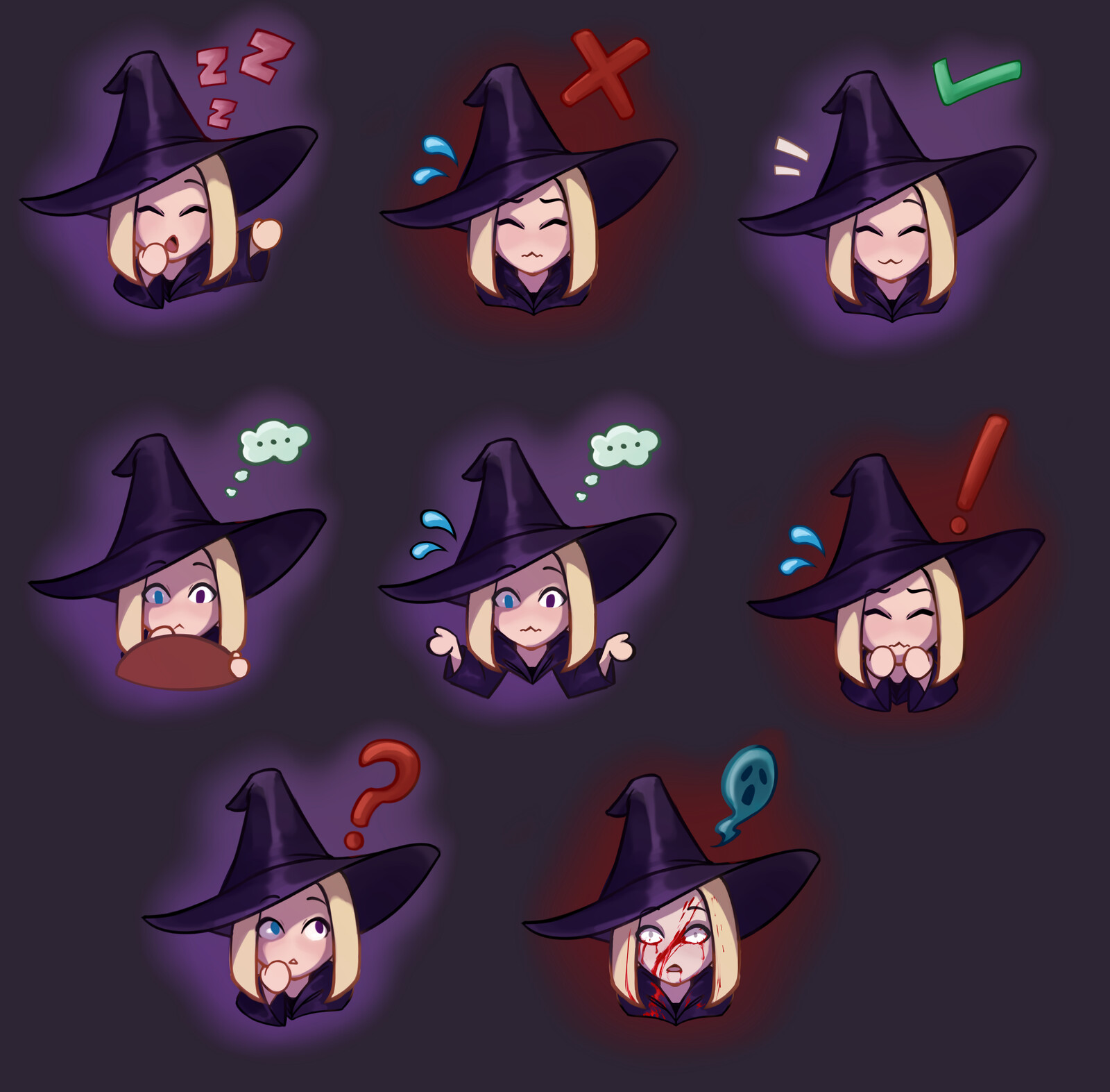 All emotes in the game to give the player feedback