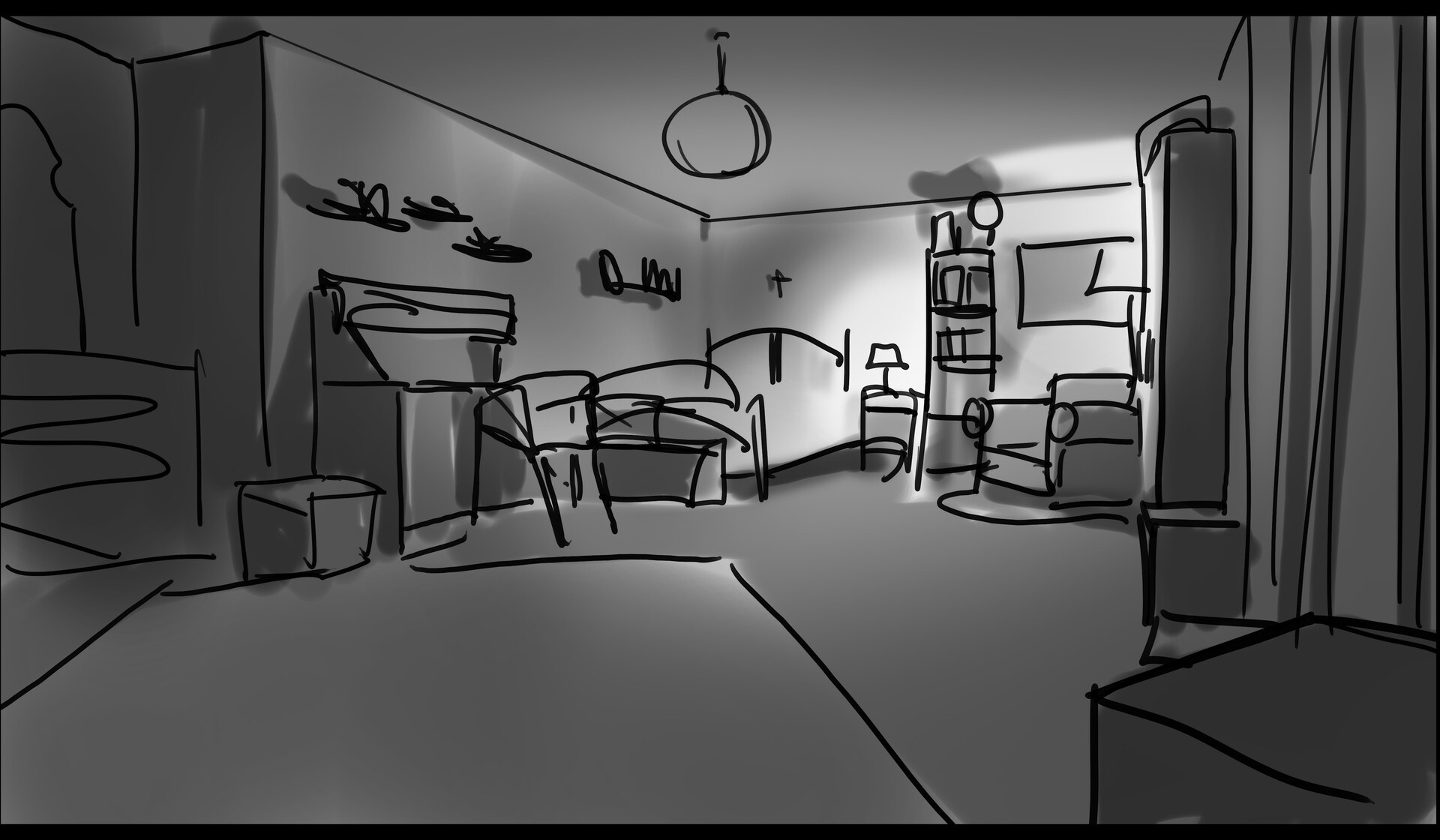 Sketch bedroom