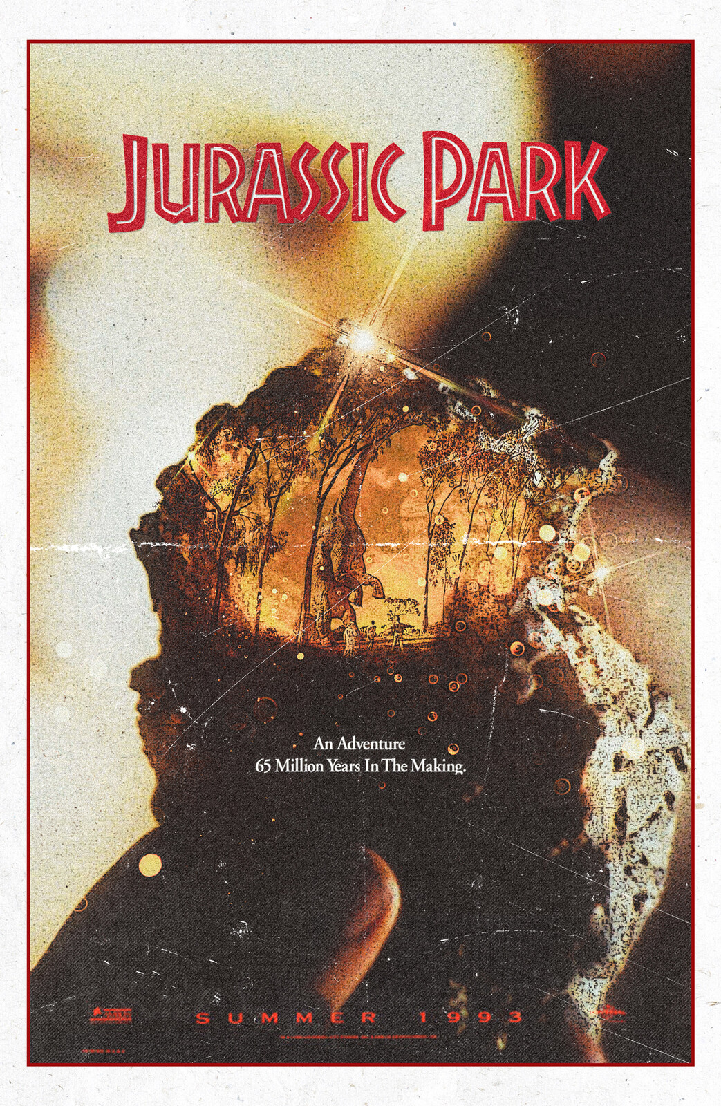 Jurassic Park Alternate Movie Poster by Nima Neemz Nakhshab