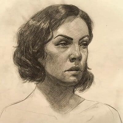 Tadas sidlauskas life drawing portrait1